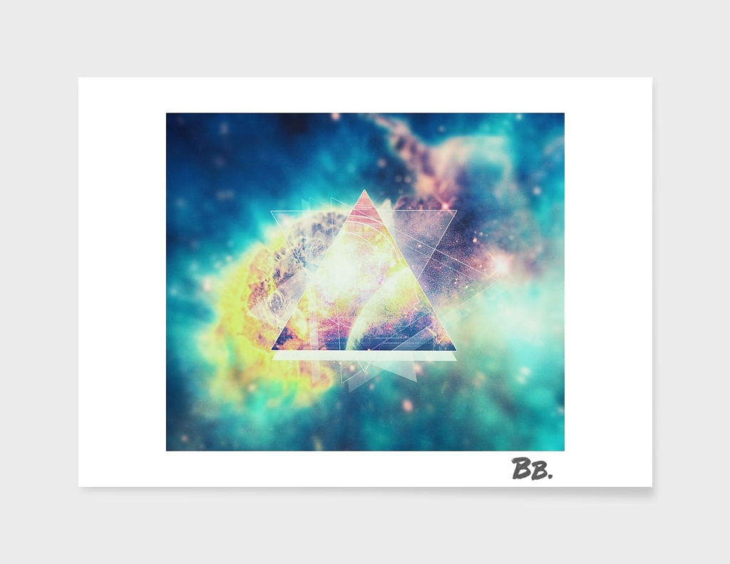 Awsome collosal deep space triangle art sign