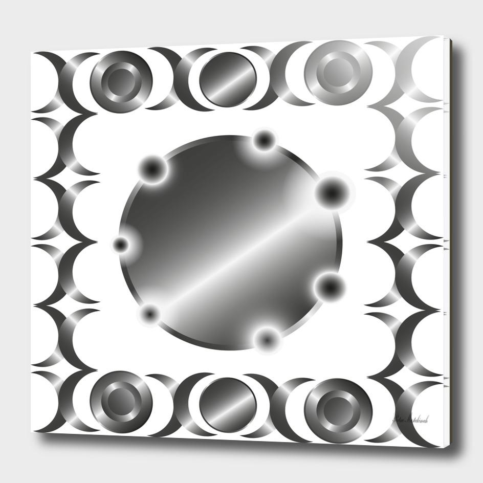Metal circle background ring