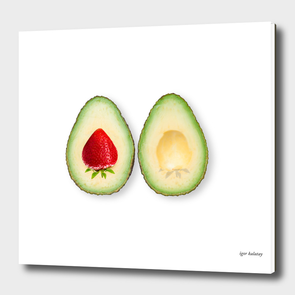 avocado strawberries