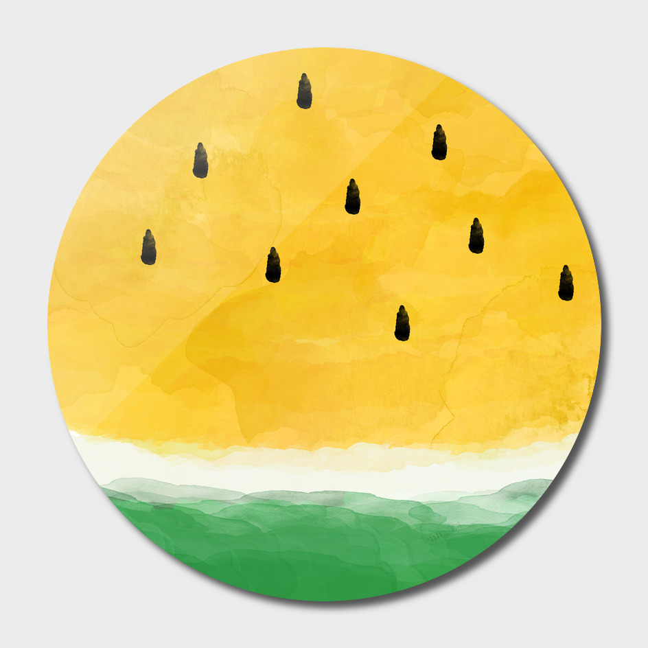 Yellow Watermelon Abstract