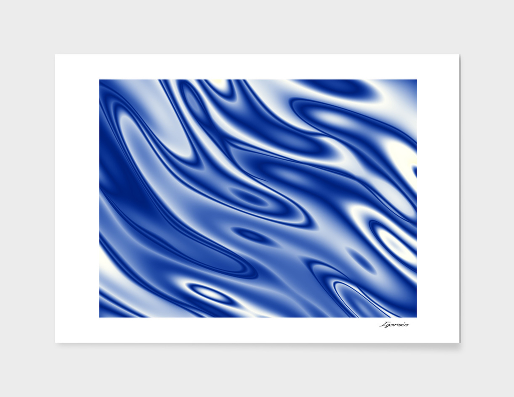 Blue ripples pattern