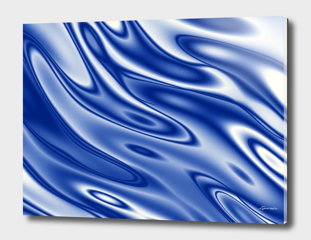 Blue ripples pattern