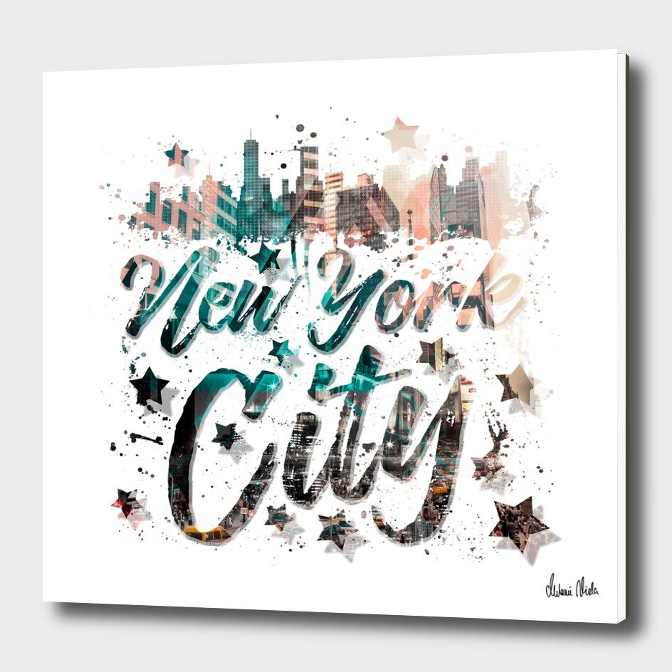 New York City Typography | Geometric Mix No. 4