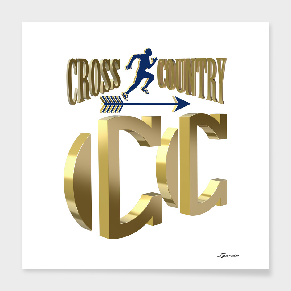 Cross country symbol