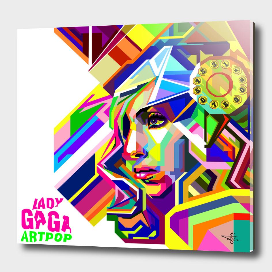 Gaga in Pop art