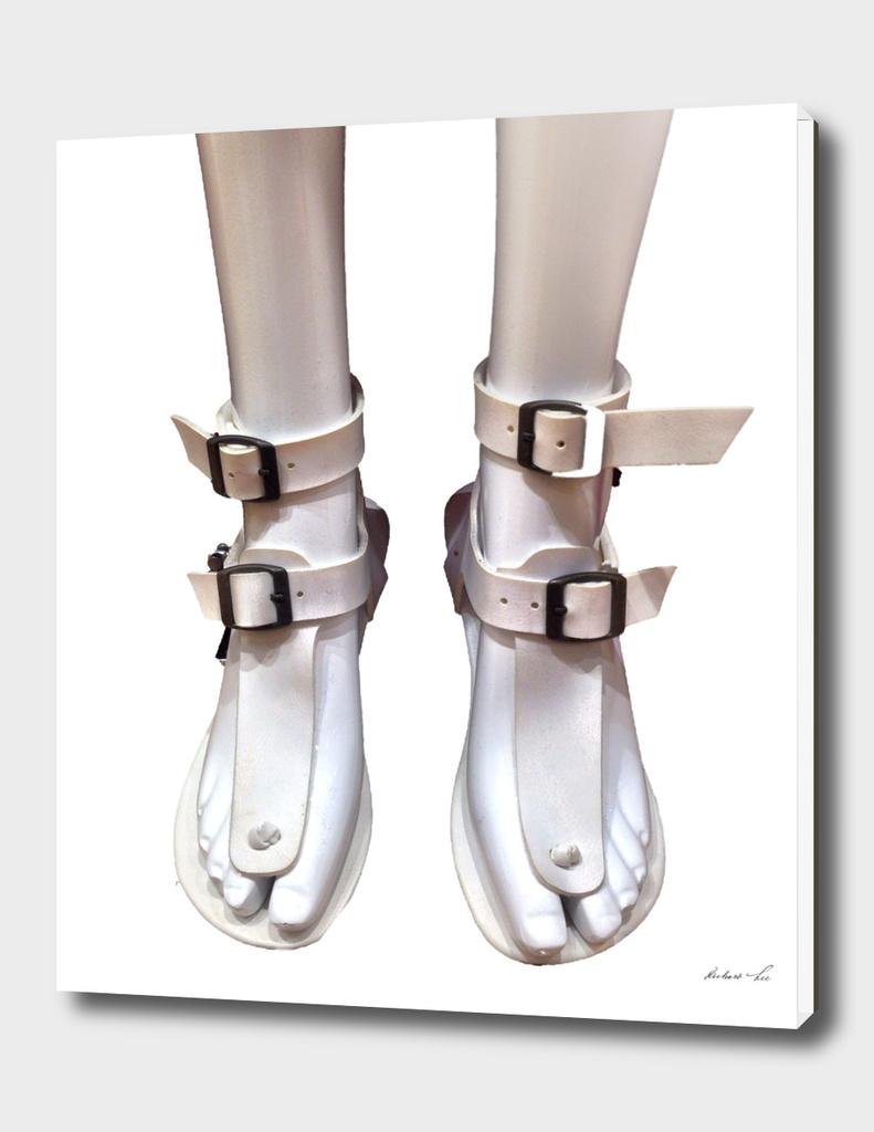 White Sandals on White