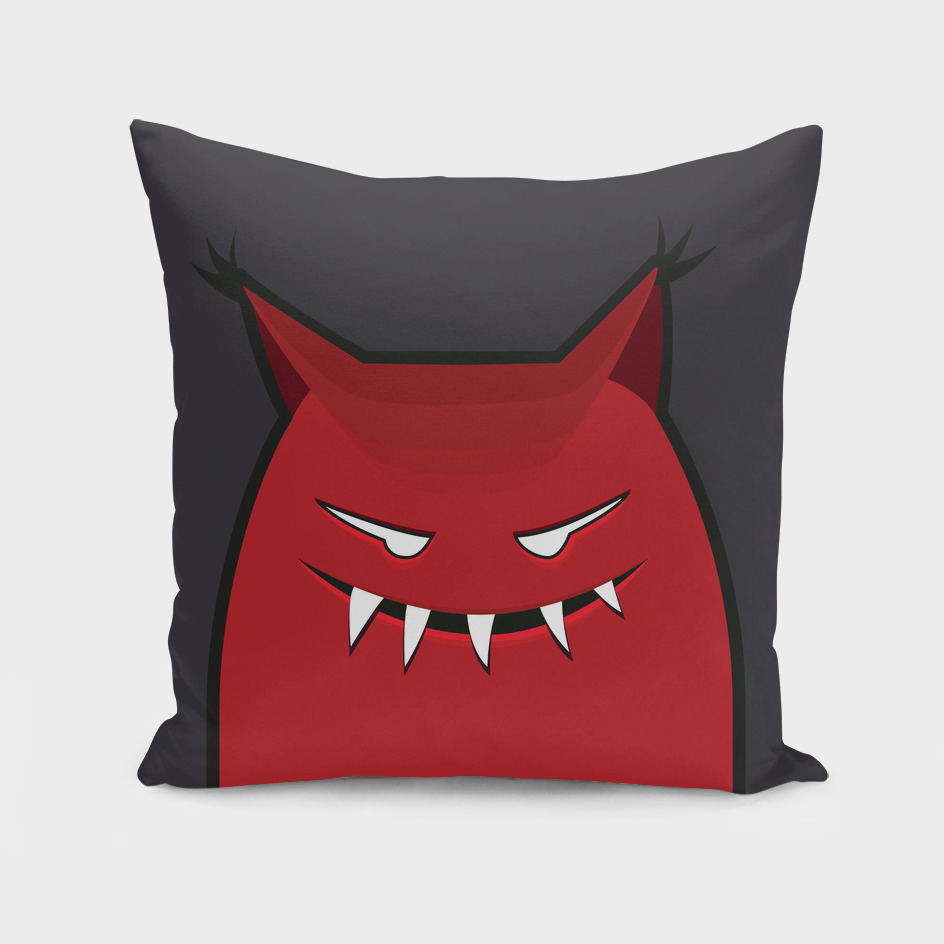 Red Evil Monster With Pointy Ears