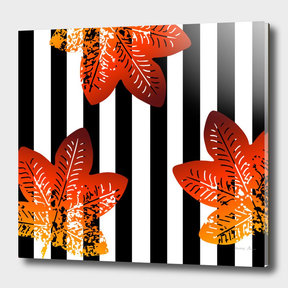 stripes floral pattern