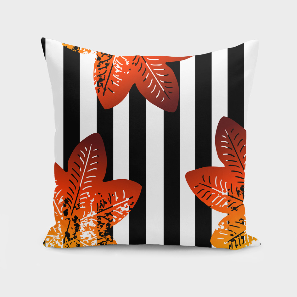 stripes floral pattern