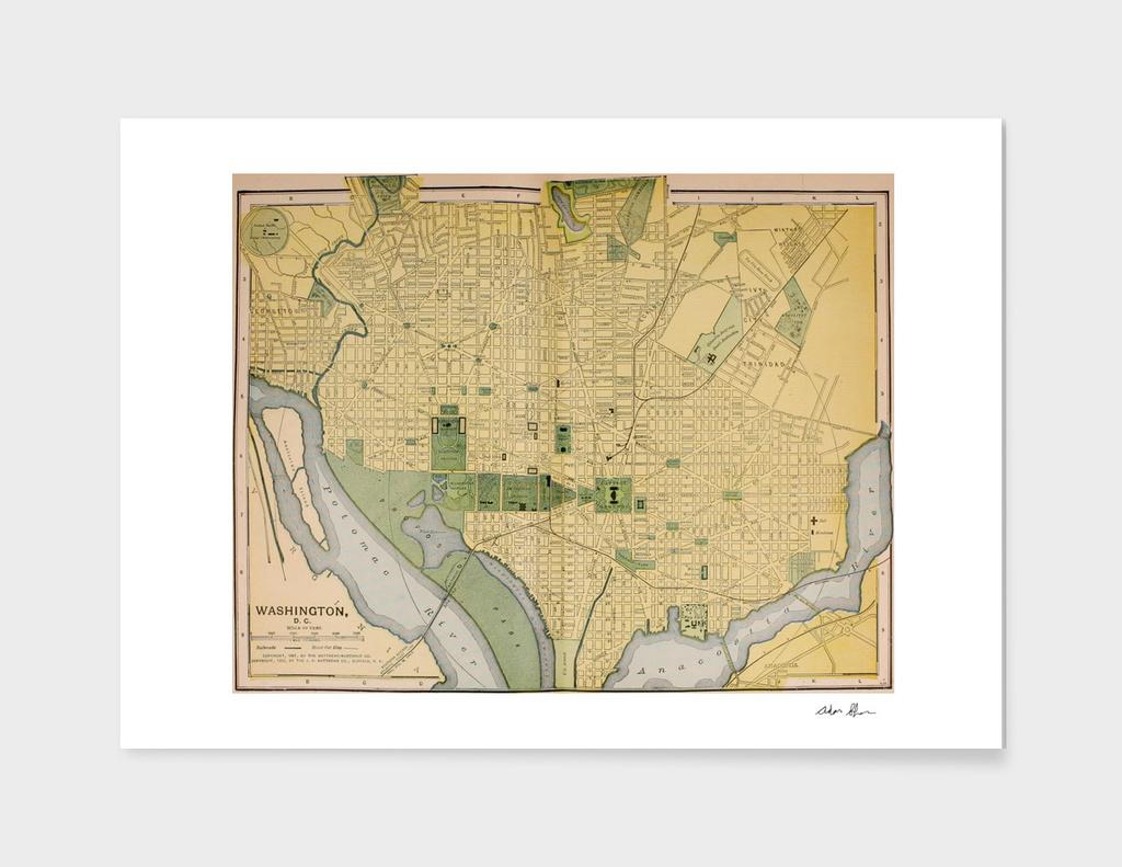 Vintage Map of Washington DC (1905)
