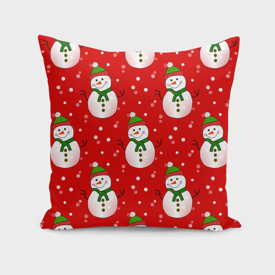 Snowman Pattern Red