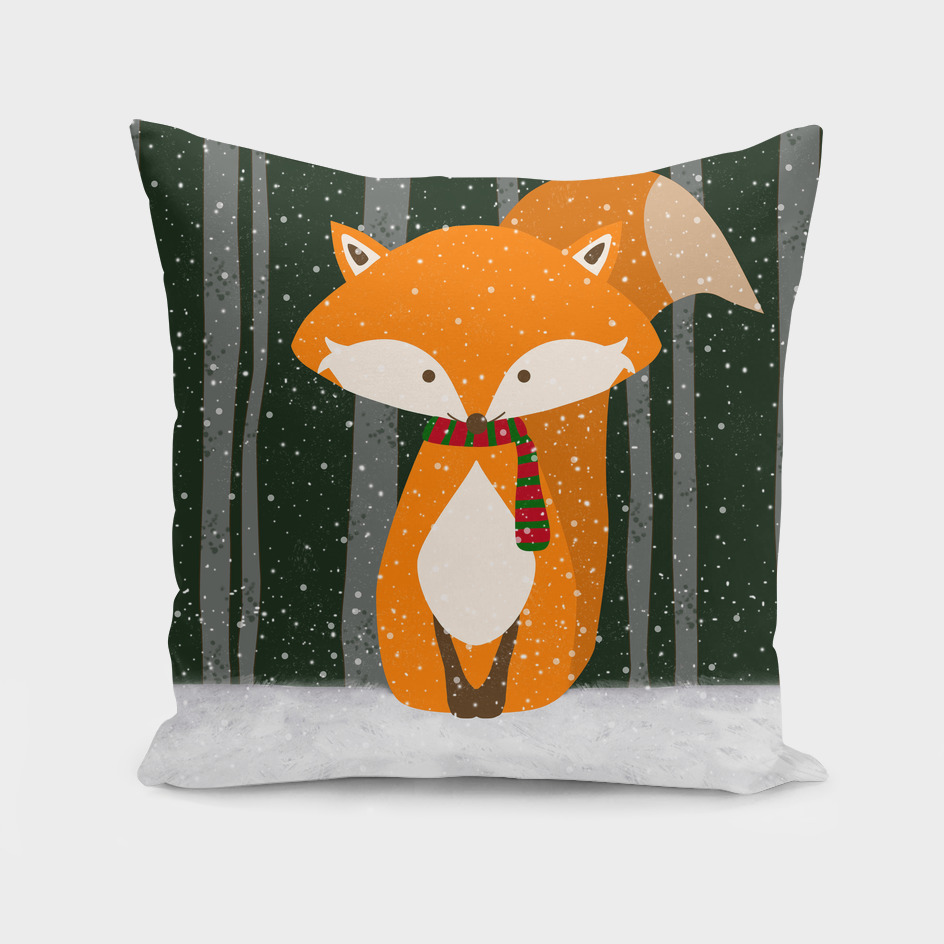 Fox Wintery Holiday Design