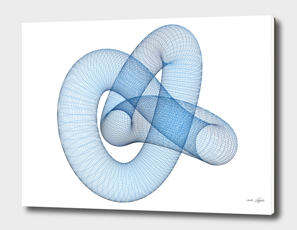 Blue wireframed knot