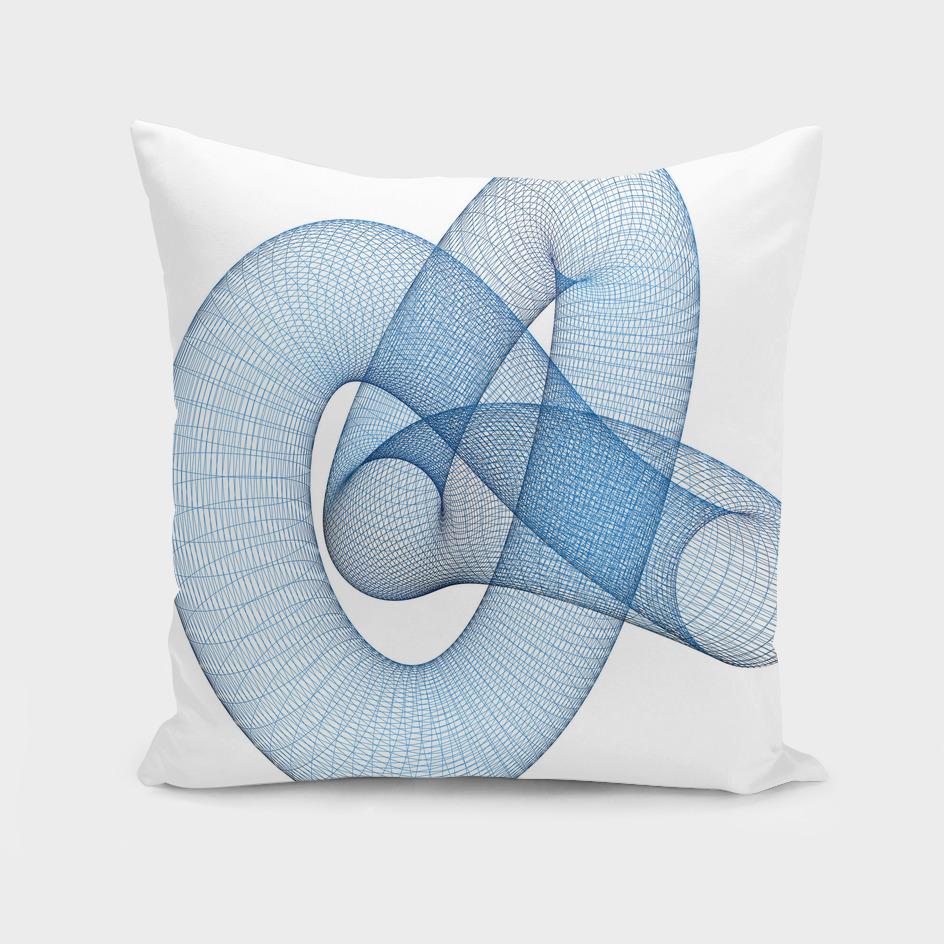 Blue wireframed knot