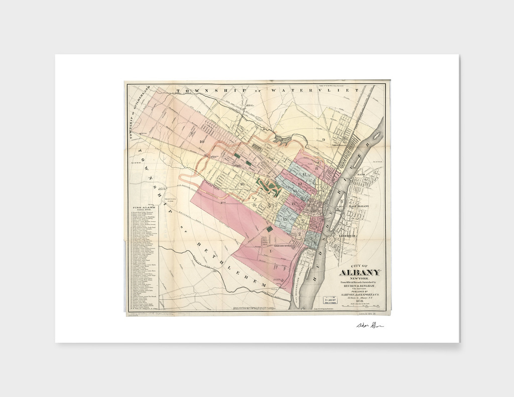 Vintage Map of Albany New York (1874)