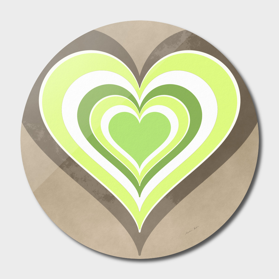 Heart lightgreen