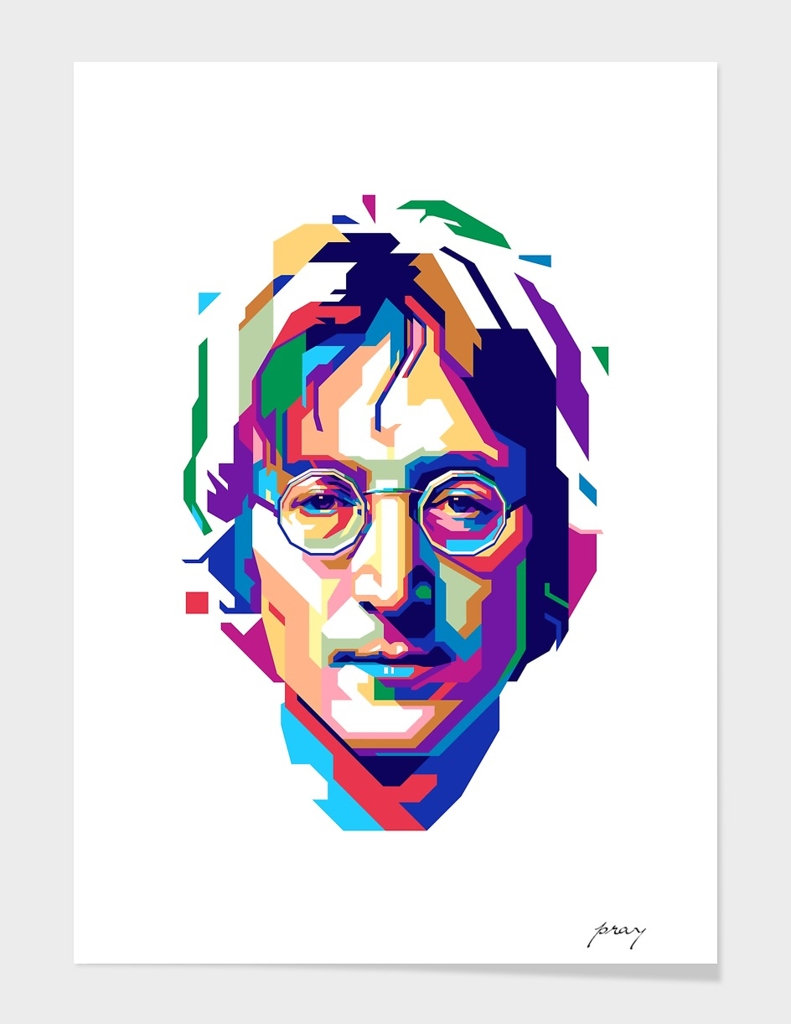 John Lennon In Wpap Art Print By Prayitno Widodo Curioos