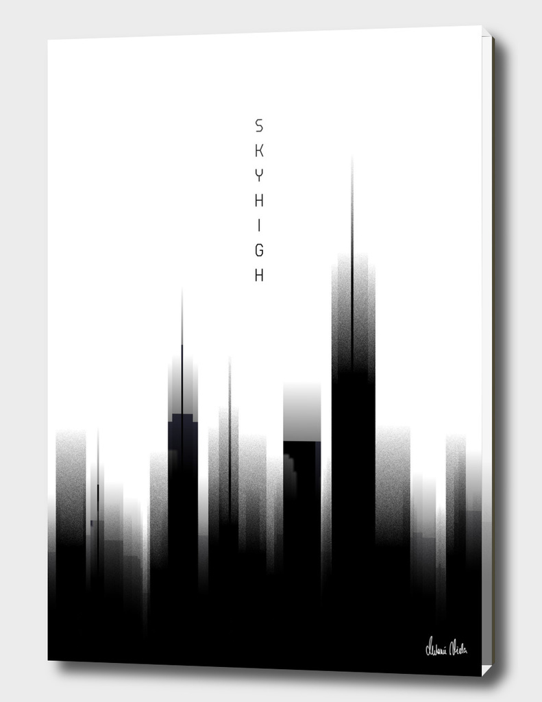 Graphic Art SKYHIGH | white