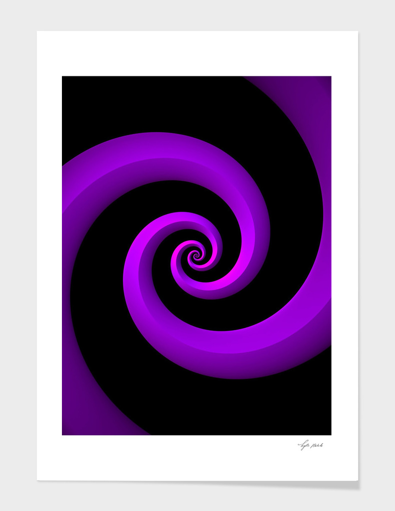 Purple Spirals on Black