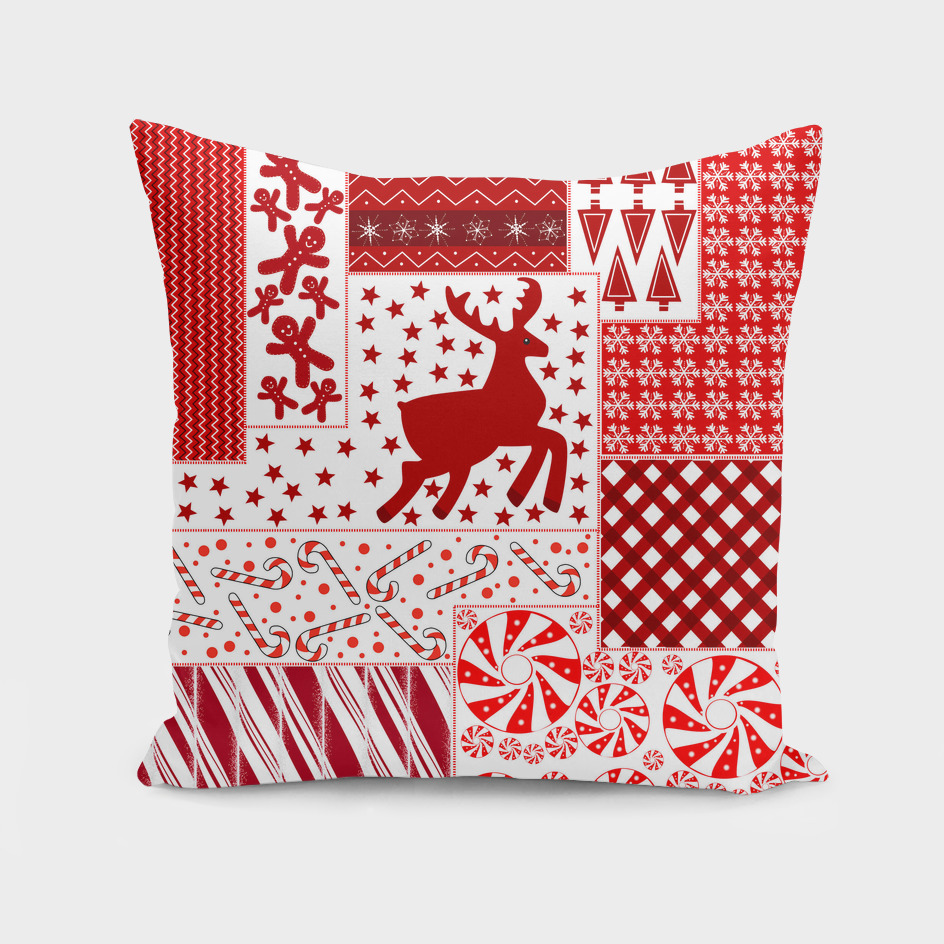 Holiday Red Quilt Design