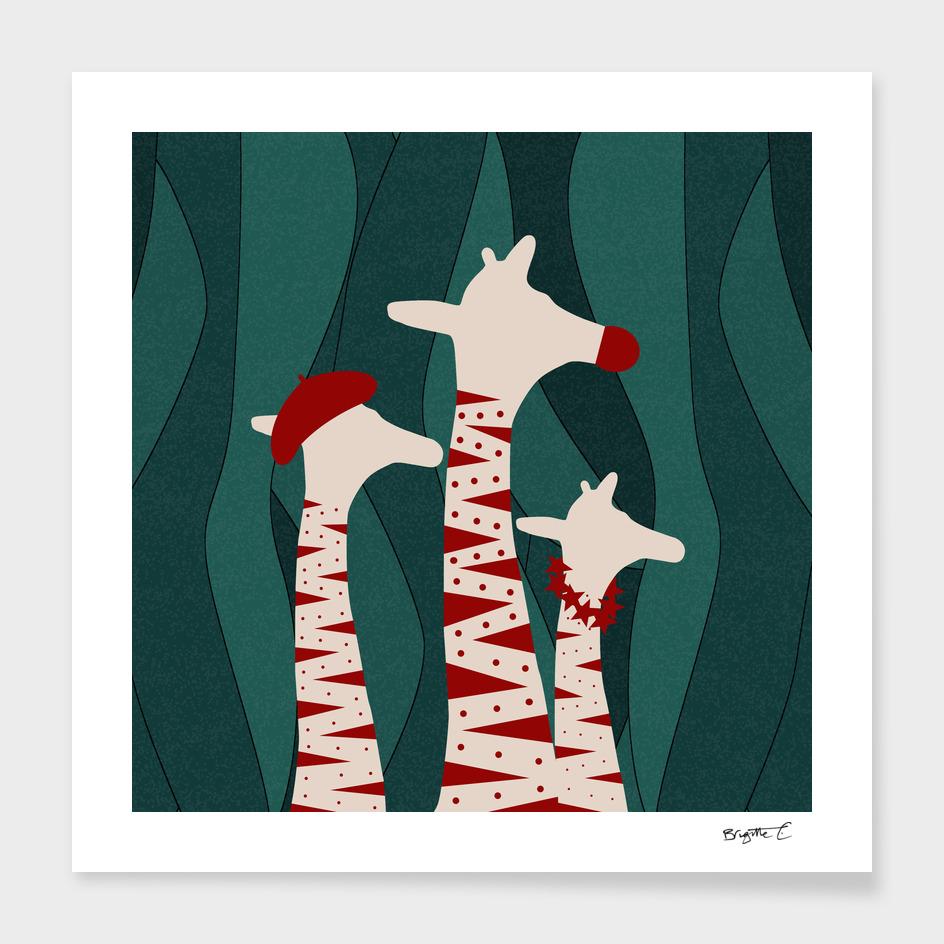 Giraffes Family Holiday Design