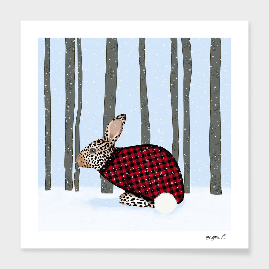 Rabbit Wintery Holiday Design