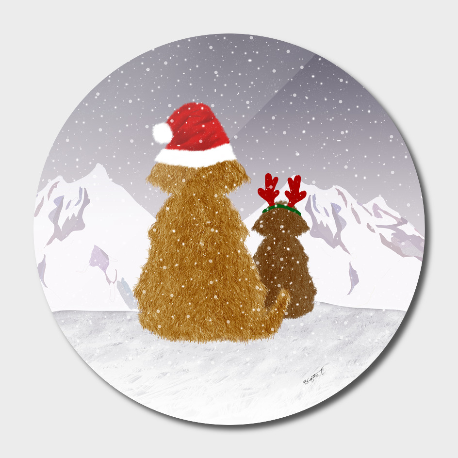 Cute Dogs Holiday Design
