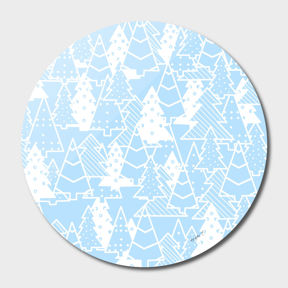 Elegant Christmas Trees Holiday Pattern