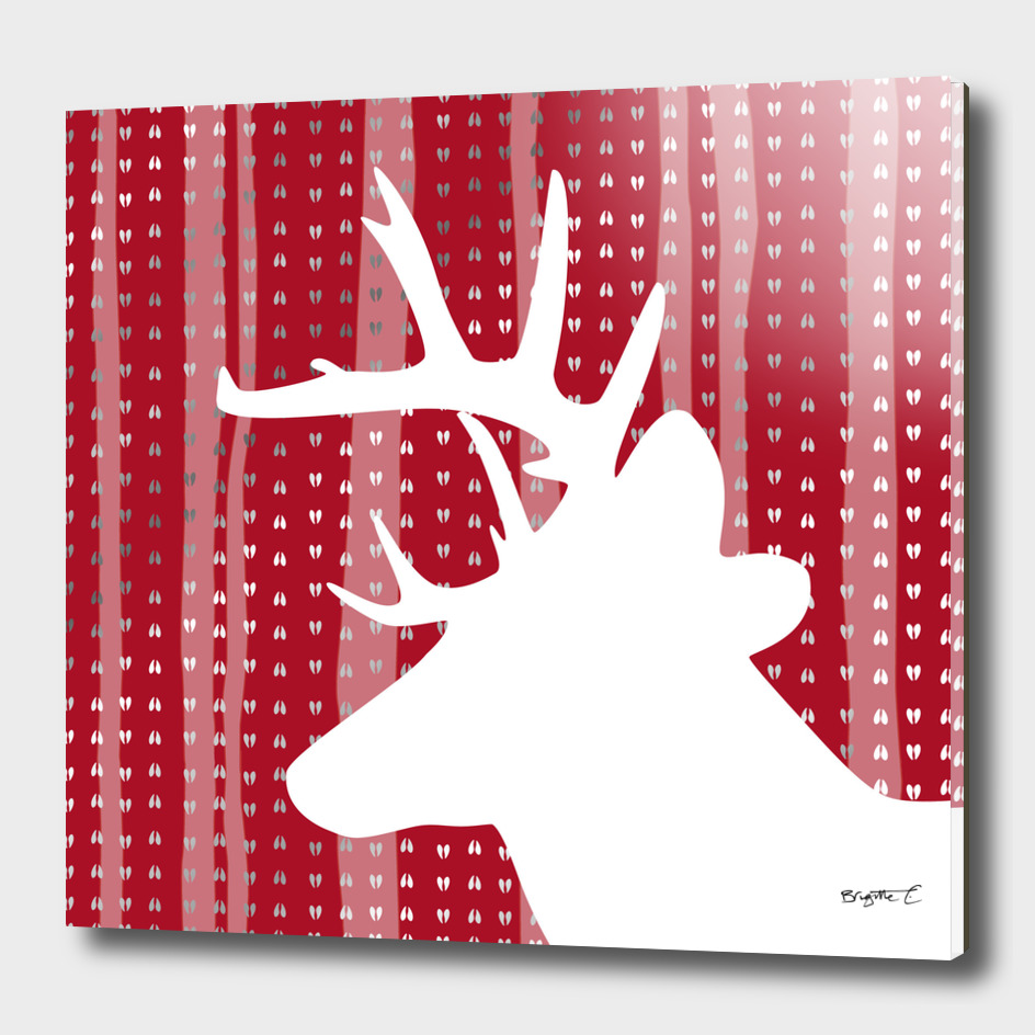 Eleghant Red Deer Holiday Design