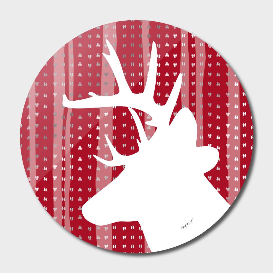 Eleghant Red Deer Holiday Design
