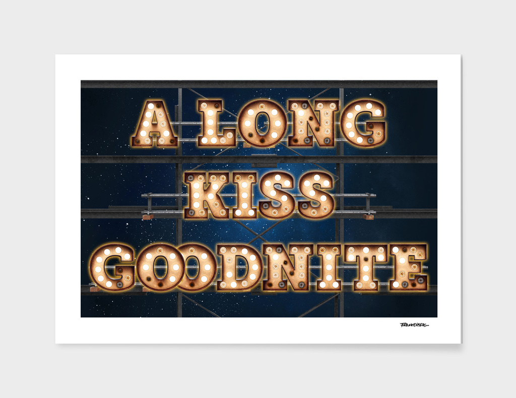 A long Kiss Goodnite -  Wall-Art for Hotel-Rooms