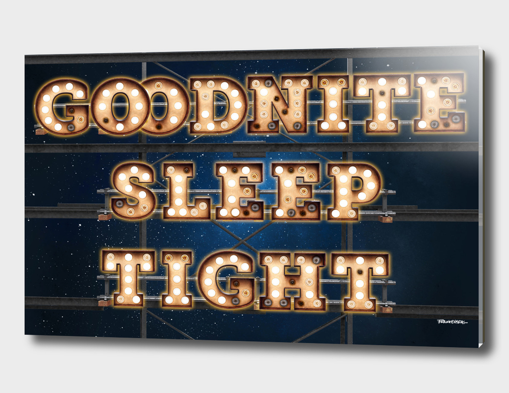 Good Nite Sleep Tight -  Wall-Art for Hotel-Rooms