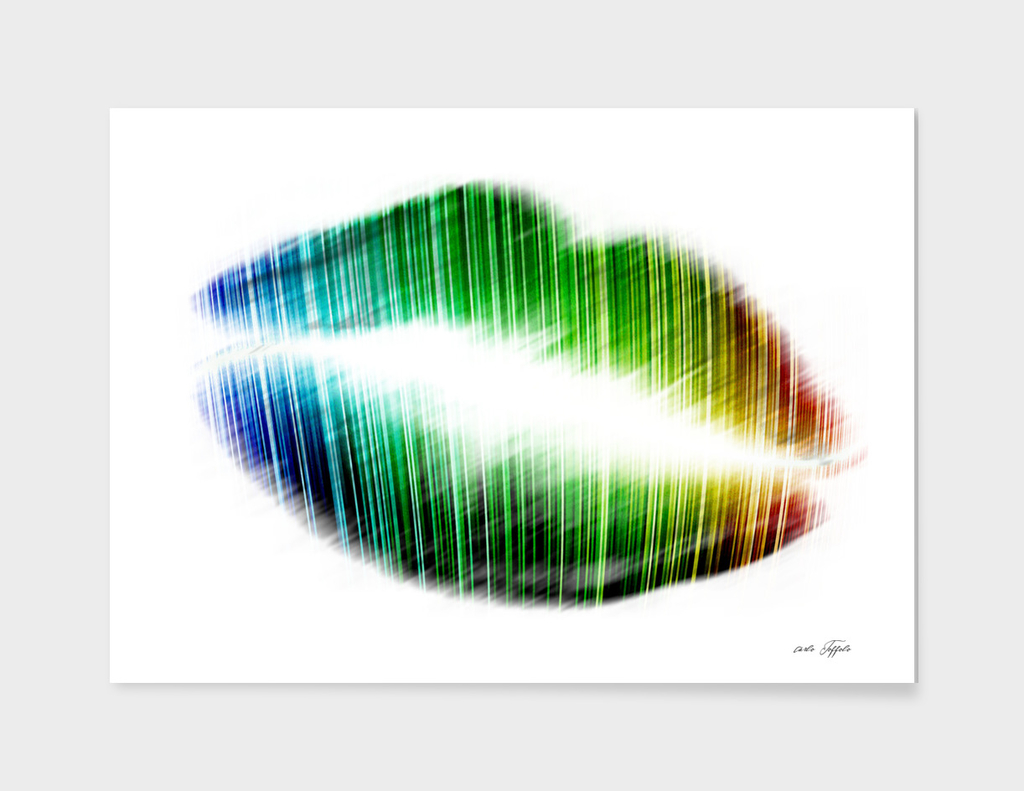 Colorful kiss