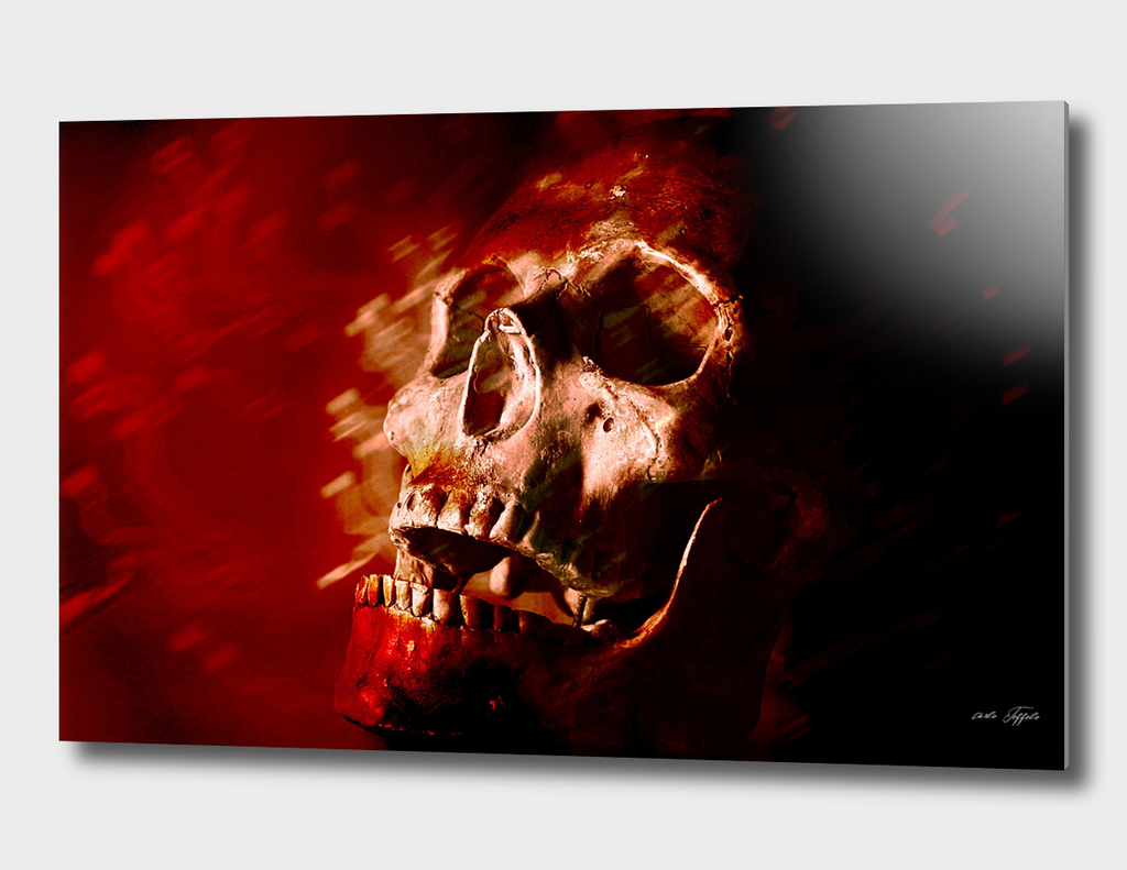Skull with red atmosphere