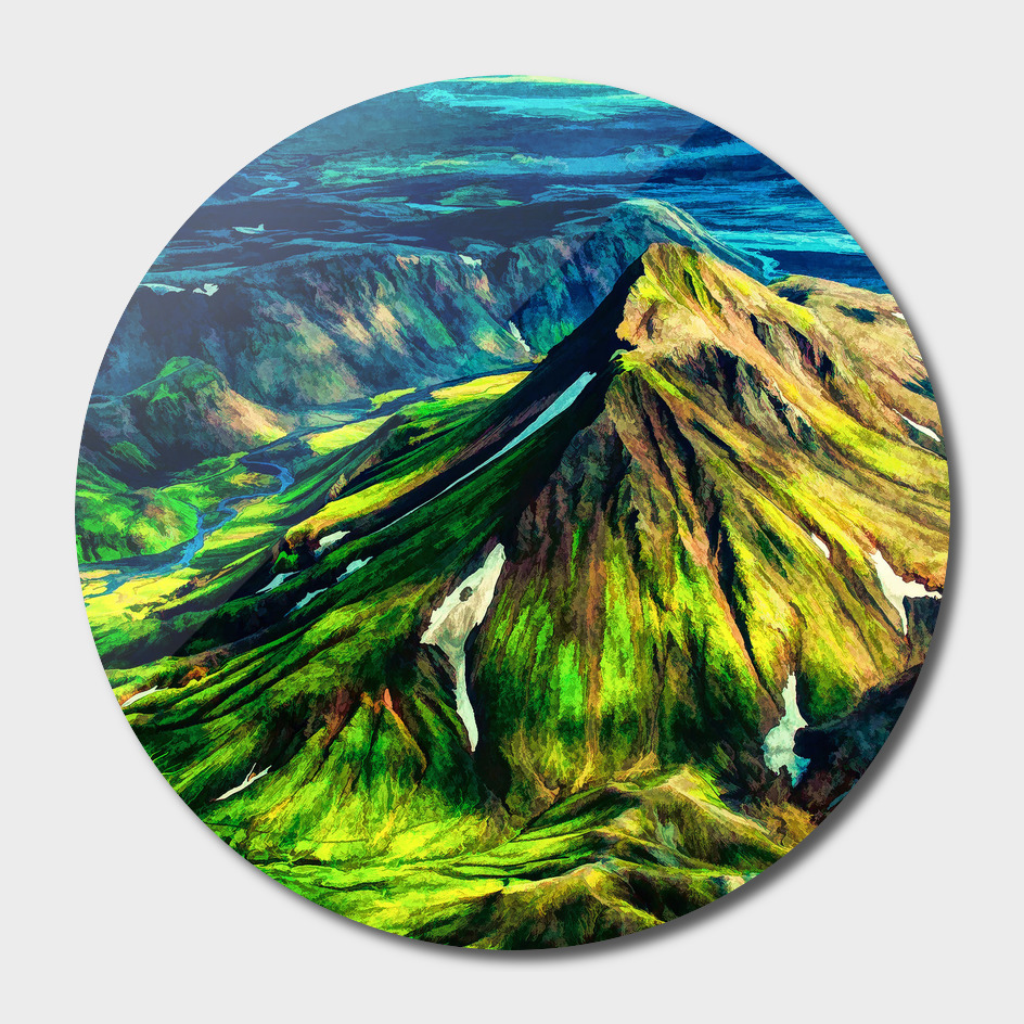 Mountains Oil painting