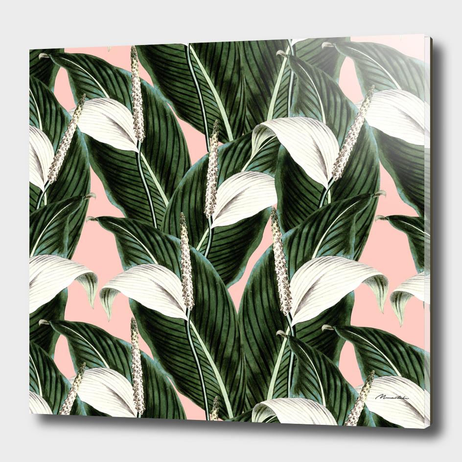 Pattern botanical flowers pastel