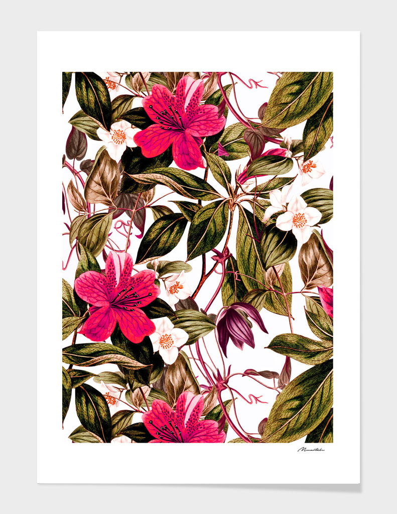 Floral botanical antique pattern