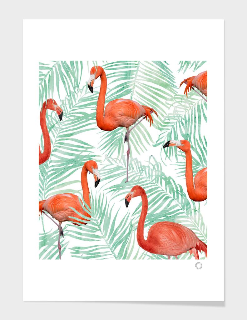 Flamingo & Mint Palm
