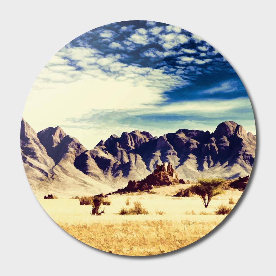 Desert & Mountains Oil painting