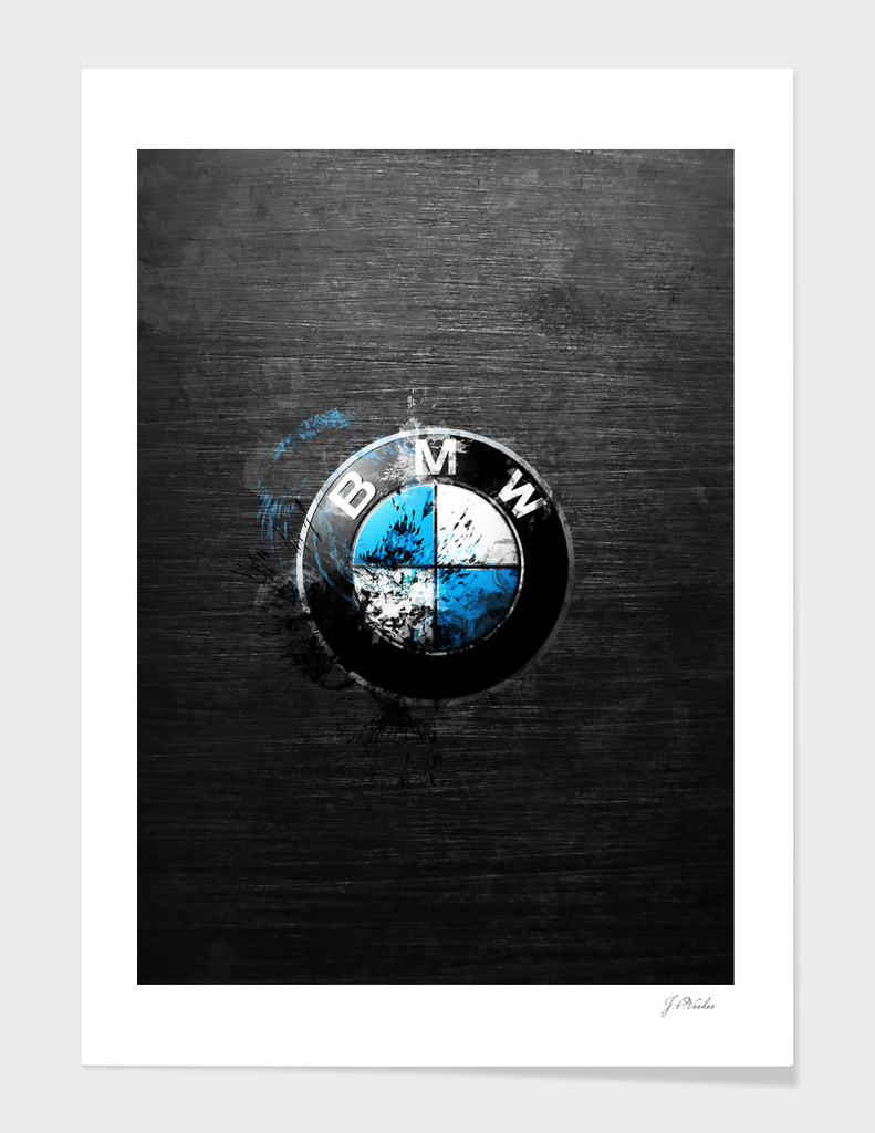BMW splatter painting