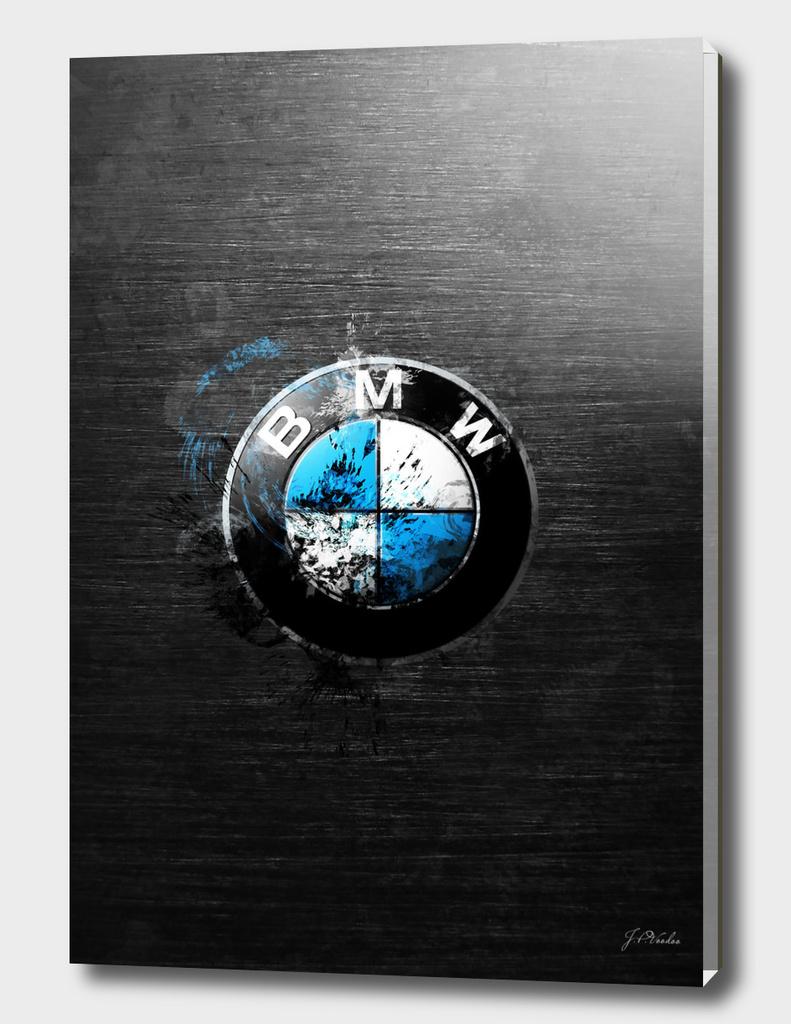 BMW splatter painting