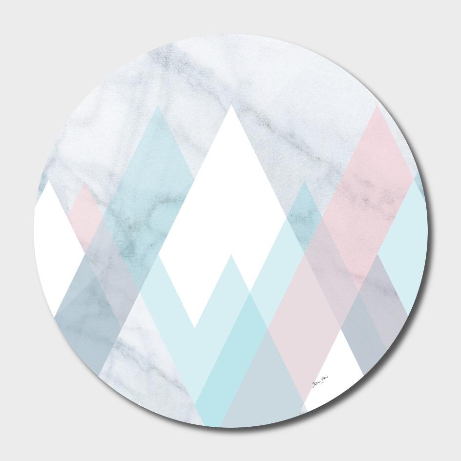 Snowy Peak on Marble
