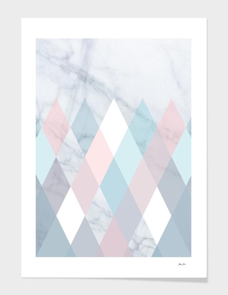 Diamond Peaks Pattern on Marble