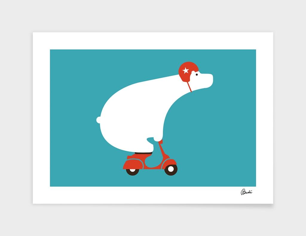 Polar Bear on Scooter
