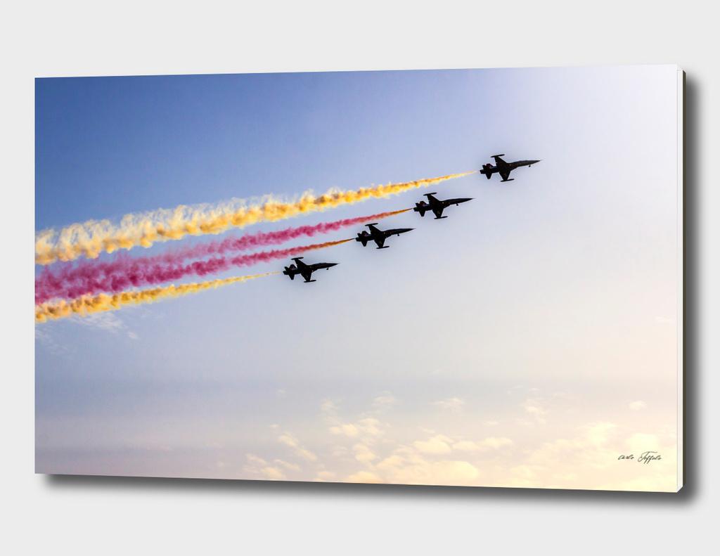 Acrobatic aviation team is flying