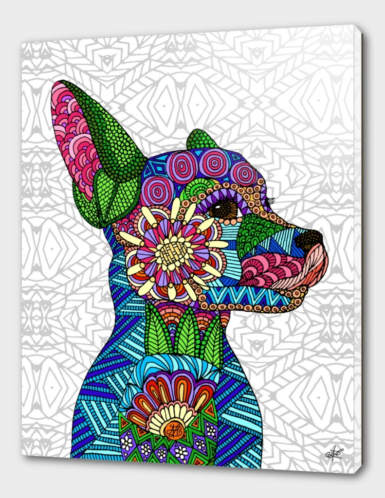 Folk Art Puppy