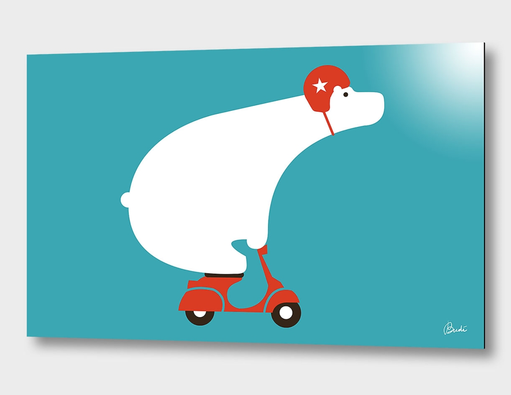 Polar Bear on Scooter
