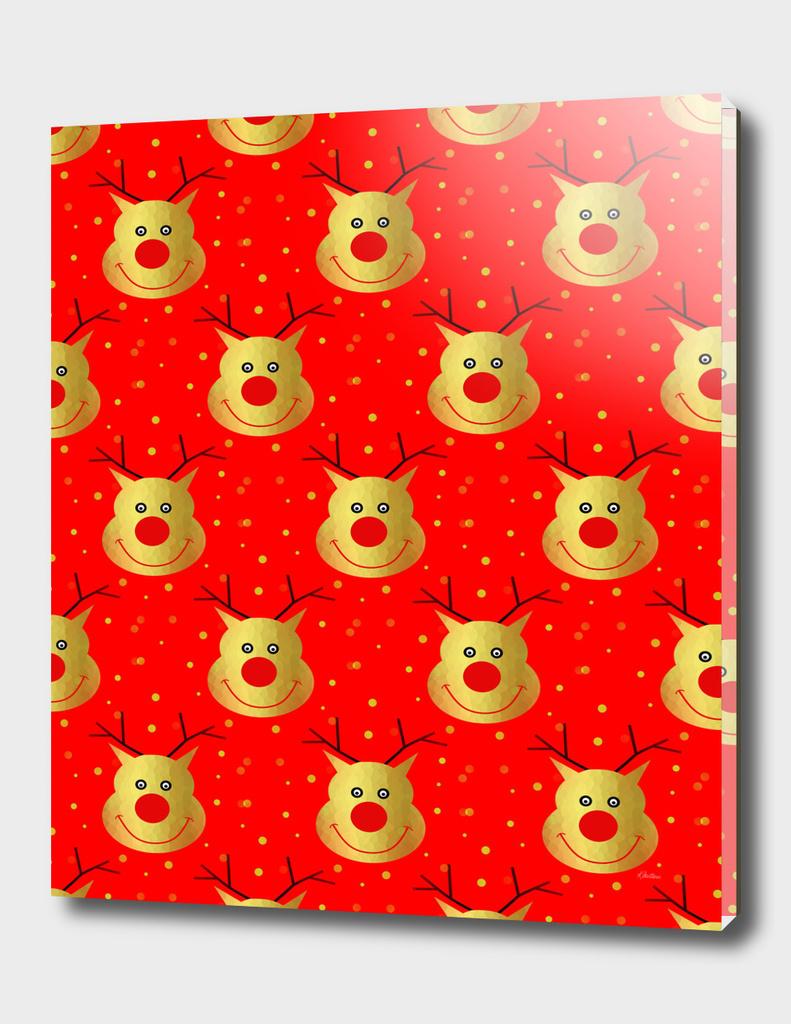 Happy Reindeer Pattern