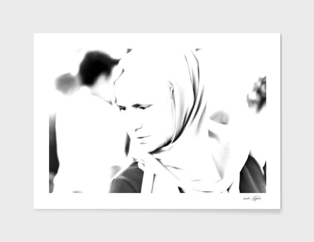 Portrait of a turkish woman at bazaar