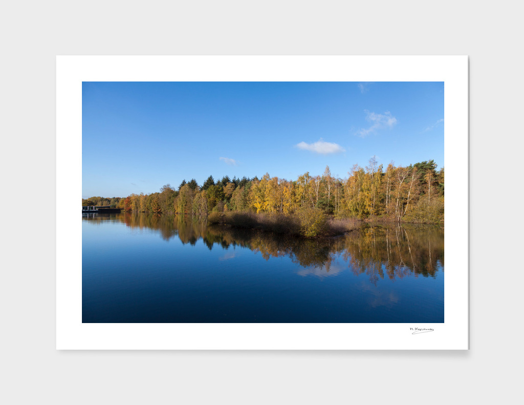 Beautiful autumn reflections
